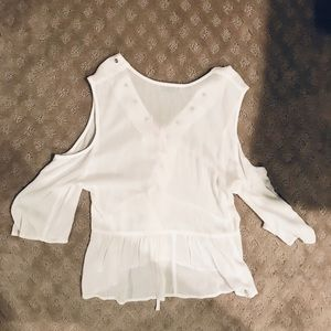 Free People Tops - Flowy Cutout Shoulder Top